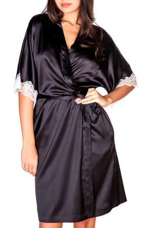 Халат Rose&Petal Homewear. Цвет: черный