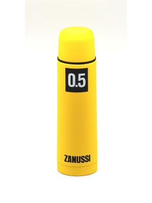 Термос желтый 0,5 л Zanussi. Цвет: желтый