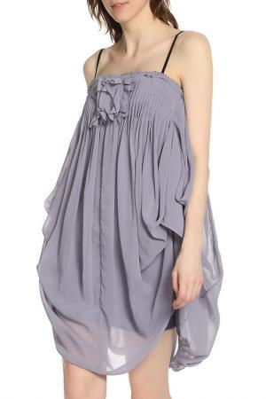 Оригинальное летнее платье на бретелях Liu Jo. Цвет: сиреневый