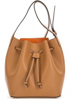 Сумка-торба с тонким плечевым ремнем Abro. Цвет: коричневый