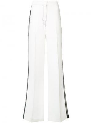 Широкие брюки с сетчатыми панелями Derek Lam. Цвет: белый