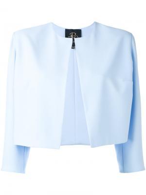 Укороченный пиджак Rhea Costa. Цвет: синий