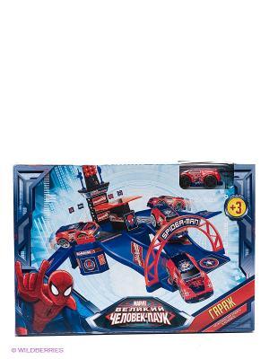 Гараж Технопарк marvel человек паук. Цвет: синий, красный