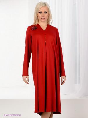 Платье Livaa. Цвет: темно-красный