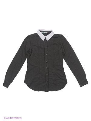 Блузка LIK. Цвет: антрацитовый, темно-серый, темно-коричневый