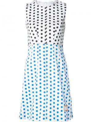 Платье с узором в горох J.W.Anderson. Цвет: белый