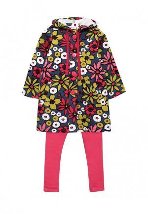 Комплект пальто и леггинсы Fleur de Vie. Цвет: разноцветный