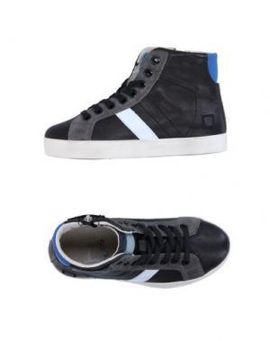 Высокие кеды и кроссовки D.A.T.E. KIDS. Цвет: черный