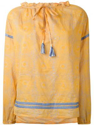 Туника с принтом Lemlem. Цвет: жёлтый и оранжевый