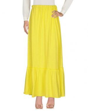 Длинная юбка EMPATHIE. Цвет: желтый