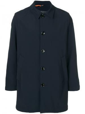 Однобортное пальто Rrd. Цвет: синий