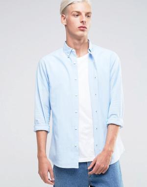 Troy Оксфордская рубашка. Цвет: синий