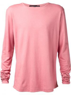 Футболки и жилеты Ødd.. Цвет: розовый и фиолетовый