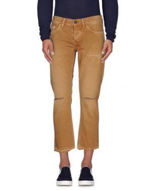Джинсовые брюки TELA GENOVA. Цвет: песочный