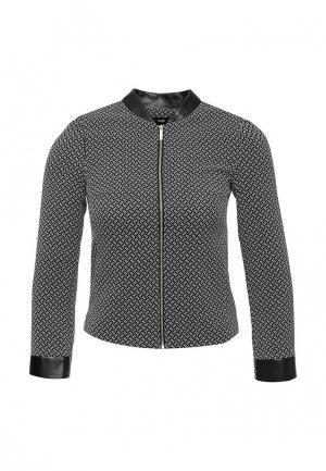 Куртка oodji. Цвет: серый