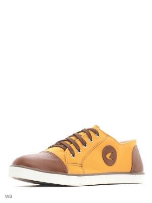 Кеды Белста. Цвет: желтый, коричневый
