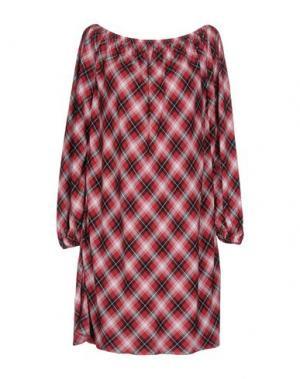 Короткое платье CARLA G.. Цвет: кирпично-красный