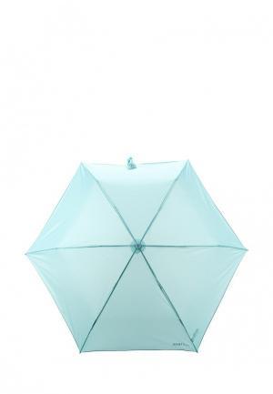 Зонт складной United Colors of Benetton. Цвет: бирюзовый