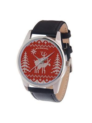 Часы Mitya Veselkov Скандинавская любовь Арт. MV-161. Цвет: темно-красный