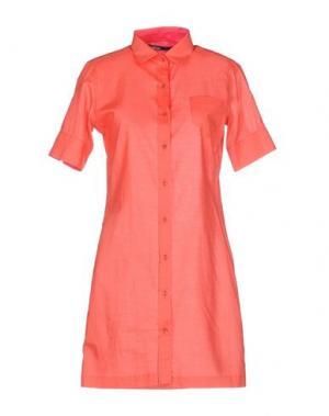 Короткое платье PIANURASTUDIO. Цвет: красный