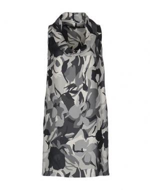 Короткое платье WALTER VOULAZ. Цвет: серый
