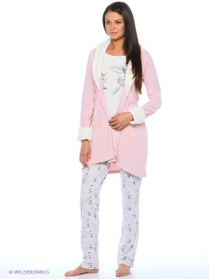 Домашний костюм HAYS. Цвет: розовый