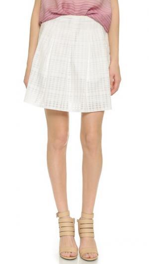 Плиссированная юбка Vince. Цвет: оптический белый