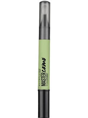 Консилер для цветокоррекции лица Master Camo, Оттенок 10, 1,5 мл Maybelline New York. Цвет: зеленый