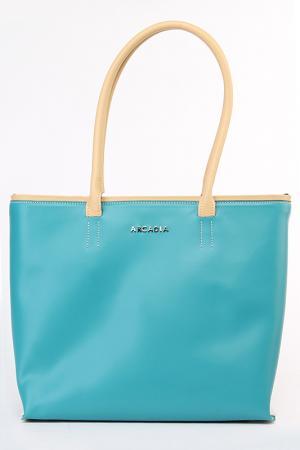 Сумка Arcadia. Цвет: голубой, бежевый