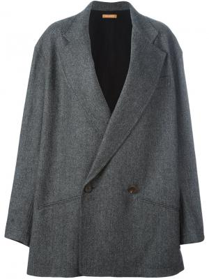 Объемное пальто Nehera. Цвет: серый