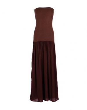 Длинное платье ANIYE BY. Цвет: красно-коричневый