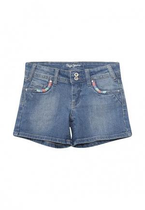 Шорты джинсовые Pepe Jeans. Цвет: синий