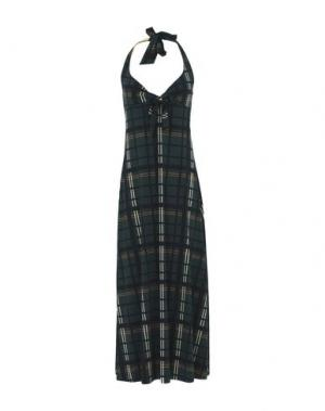 Длинное платье SIYU. Цвет: темно-зеленый