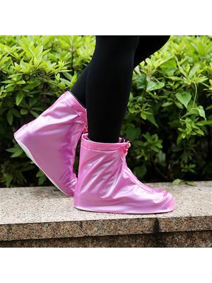 Дождевики для обуви на молнии, розовые, размер L Homsu. Цвет: розовый
