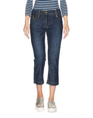 Джинсовые брюки-капри ALVIERO MARTINI 1a CLASSE. Цвет: синий