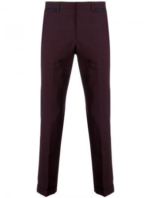 Классические брюки-чинос Prada. Цвет: розовый и фиолетовый