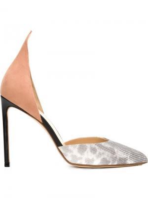 Туфли с заостренным задником Francesco Russo. Цвет: розовый и фиолетовый