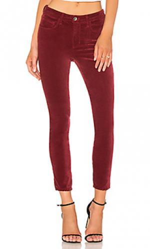 Узкие бархатные брюки margot LAGENCE L'AGENCE. Цвет: красный