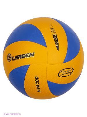 Мяч волейбольный VB ECE-1/MVA200 Larsen. Цвет: желтый, синий