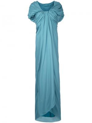 Длинное платье с драпировкой Paule Ka. Цвет: зелёный
