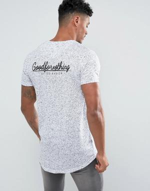 Good For Nothing Белая обтягивающая футболка в крапинку с принтом на спине Not. Цвет: белый