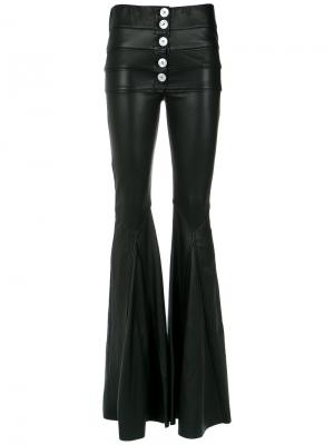 Leather flared trousers Andrea Bogosian. Цвет: чёрный