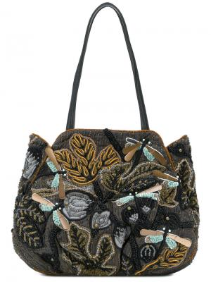 Sequin embroidered bag Jamin Puech. Цвет: серый
