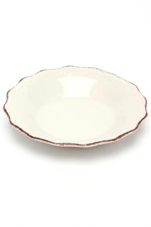 Тарелка суповая Айвори 21 см H&H. Цвет: белый
