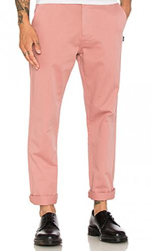 Окрашенные брюки-чино Stussy. Цвет: розовый