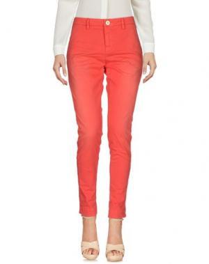 Повседневные брюки AGLINI. Цвет: коралловый