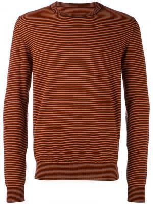 Полосатый свитер Maison Margiela. Цвет: коричневый