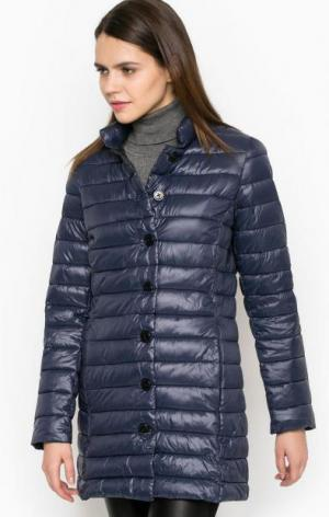 Тонкая куртка из полиамида на пуговицах Cinque. Цвет: синий