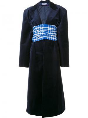 Платье кроя кимоно Jacquemus. Цвет: синий