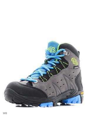 Ботинки EB Kids. Цвет: серый, голубой, желтый